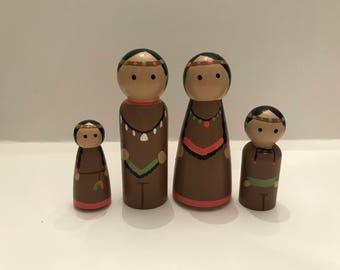 American Indian Peg Doll