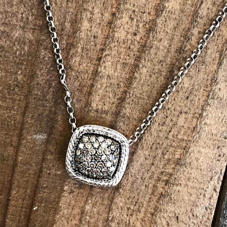 Brown Diamond  Sterling Silver Pendant
