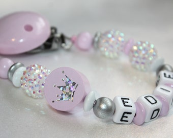 Bling Dummy Clip personalised Any Name Colour Pink Blue cheap boss designer