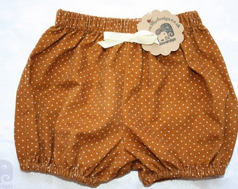 Baby Bloomers / Baby Shorts - cord - Yellow - Polkadot