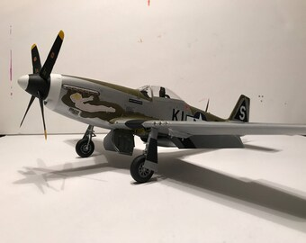 P-51D Mustang -20th Fighter Group- 1/32 scale- Built Plastic Scale Model