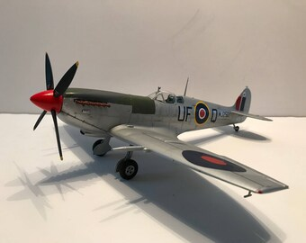 Spitfire Mk.IXc- RAF- 601 Squadron- 1/32 scale- Built Plastic Scale Model