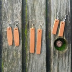 Leather Bar Earrings / Leather Earrings / Bar Earrings / Leather Dangles / Leather Jewelry / Joanna Gaines Earrings / Bear and Her Honey