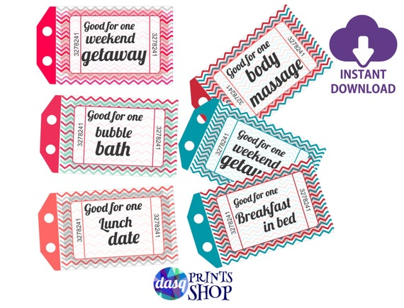 Instant Download Printable Love Coupons Gift For Husband Or Etsy