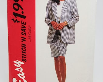 Easy Stitch 'N Save McCall's 6360 Sewing Pattern Misses' Jacket Top Skirt Sizes 16 - 22 Uncut