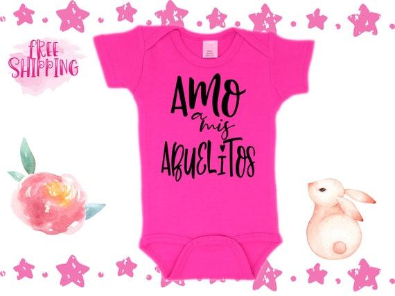 Amo A Mis Abuelitos Spanish Cute Baby Bodysuit Awesome Ropita