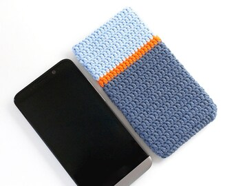 Blue BlackBerry Z30 sleeve, eco friendly Nexus 5 phone sock, Moto G3 cover, denim LGG2 cozy, colorblock Alcatel U5 pouch, hipster phone case