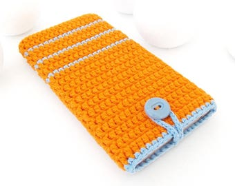 iPhone 8 phone cover, Orange iPhone 7 sock, vegan iPhone 6s pouch, Xiaomi Redmi 3/3s sleeve, Blue striped Samsung A3 2017 cozy, iPhone case