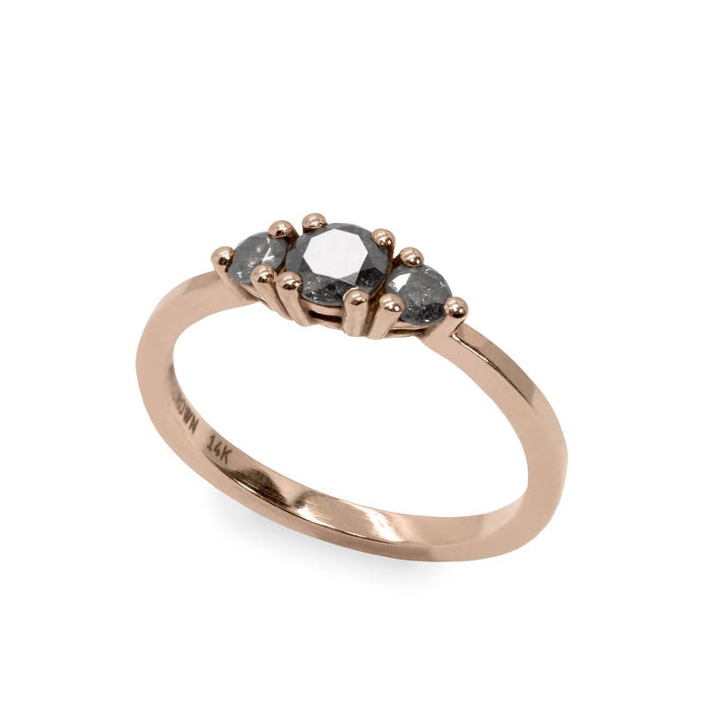 Unique Diamond Ring Handmade Engagement Ring Gold Engagement image 0