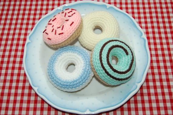 Patroon Gehaakte Voor Iced Ring Donuts Gebak Haak Voedsel Etsy