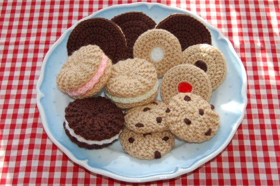 Knitting Crochet Pattern For A Selection Of Biscuits Etsy