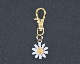 Daisy-Flower-Enamel-Zipper Charm