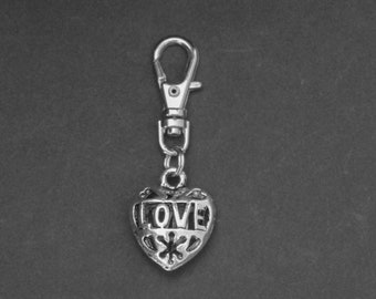 Heart-Zipper Charm