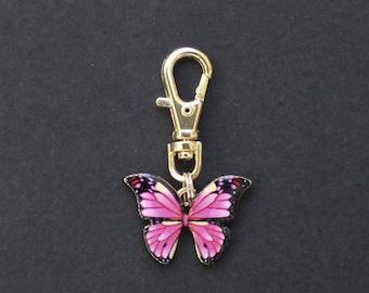 Butterfly-Enamel-Pink-Zipper Charm