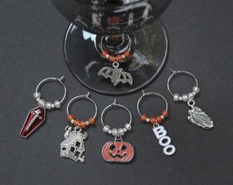 Halloween Wine Glass Charms-Set of 6-HALLOWEEN004-6