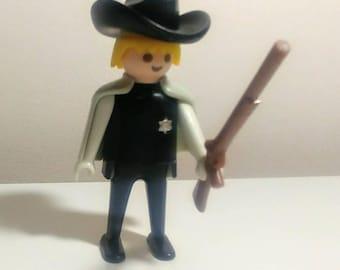 d6e25d49367 1974 Playmobil Sheriff Figure With Rifle Cape Hat
