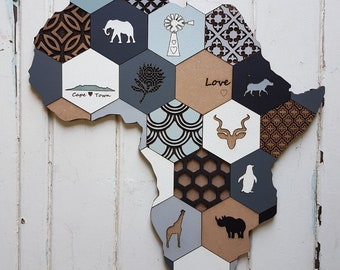 Africa Collage Wall Art