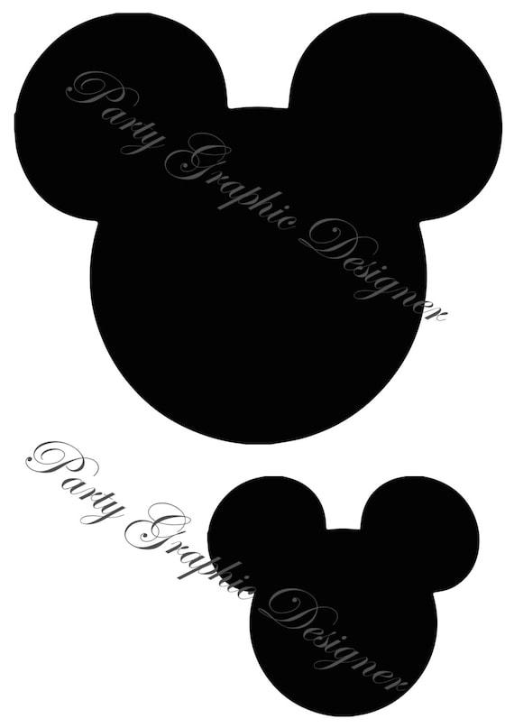 Silhouettes de tête de Mickey Mouse Disney | Etsy