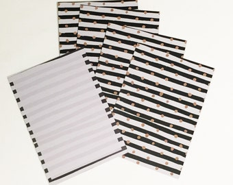 Spot and Stripe Notecards