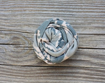 Military Cammie Rosette Hair Clip (USMC Desert/Woodland, Navy, Army, Air Force), Military Camo Accessory