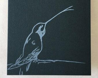 Dit-dot morse hummingbird notecards
