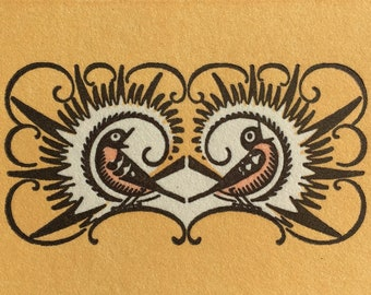 Colorful Singing Birds A2 foldover & envelope