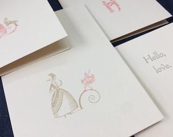 Hello, Love: A1 notecard & envelope