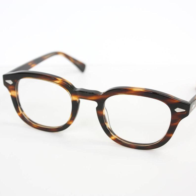 08a9fe106d Havana Tortoise Horn Rim Optical Eyeglasses 47 22