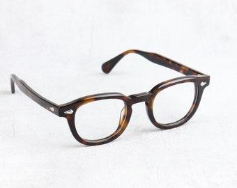 Tart Arnel style Johnny Depp Glasses 44 or 46 Size Horn Rim Optical Eyeglasses Demi Amber