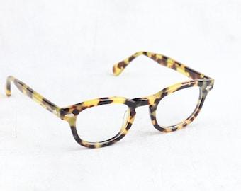 Tart Arnel Style James Dean Horn Rim Optical Eyeglasses 44 or 46 size Tokyo Tortoise