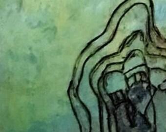 """Encaustic """"Ghosts"""""""