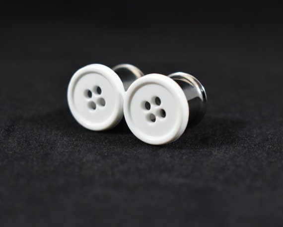 716 in Plug Earrings White AB Rainbow Finish Plugs Plugs and 12 in 00g