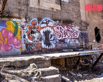 Graffiti. Urban Art. Abandoned History. Urban Exploration. Photography.