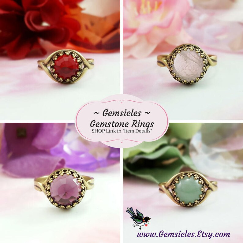 Pink Moonstone Ring Pink Opal Ring Cats Eye Ring Pink Rings for Women Pink Glass Ring Crown Bezel Ring Cabochon Stone Ring R2006