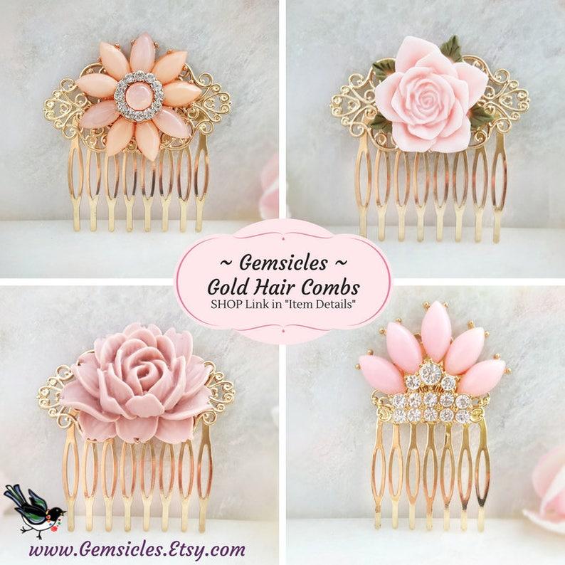 Pink Rose Hair Pins Victorian Accessories Living Coral Floral Bobby Pin Set Fuchsia Flower Hair Clips Decorative Blush Bun Hairpin H4114