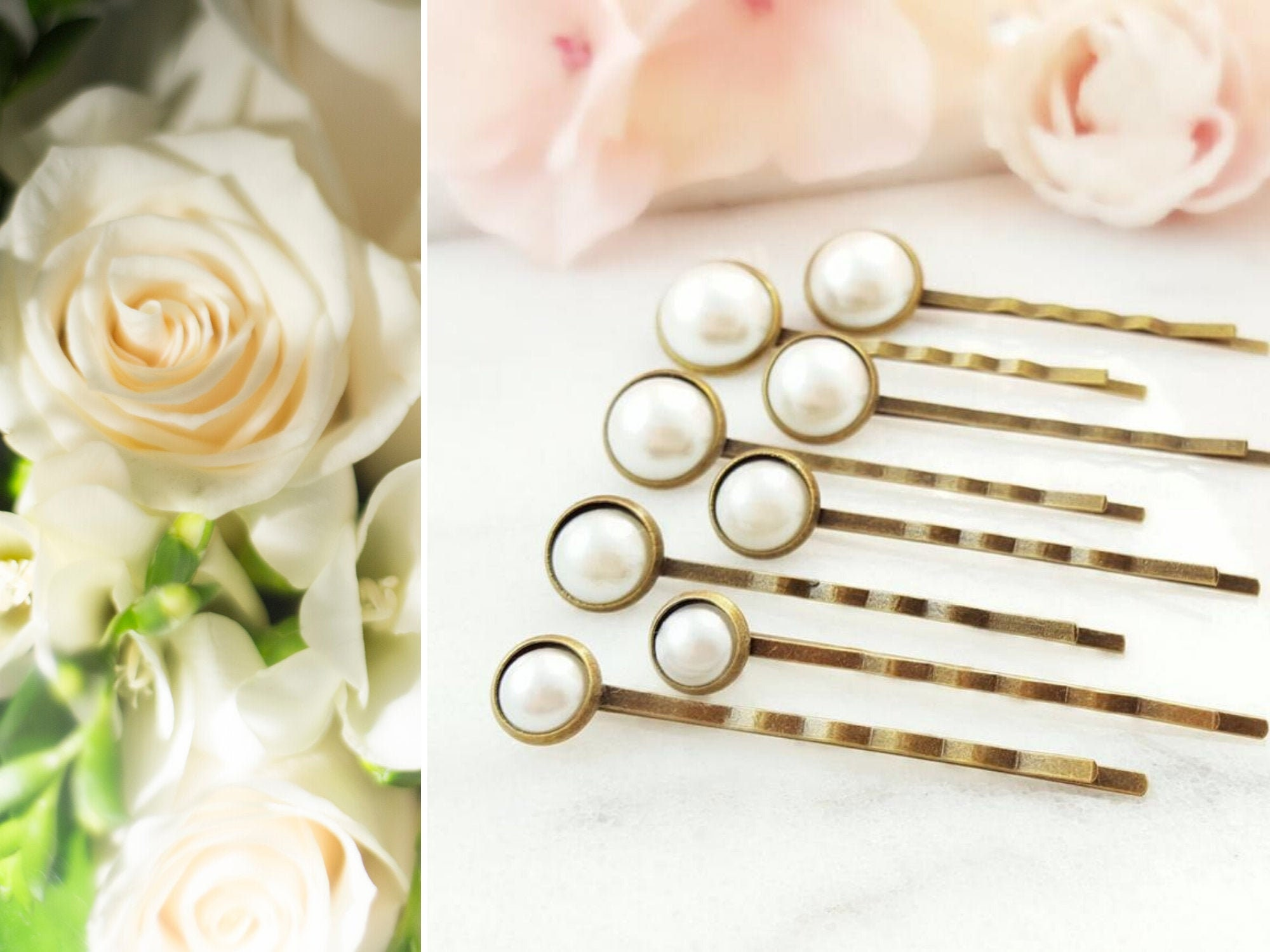 PEARL HAIR PINS Set of 18, White Bun Bobby Pins, Pearl Wedding Hair Pick,  Classic Ivory Bridal Hair Accessories for Wedding Party Gift H18A