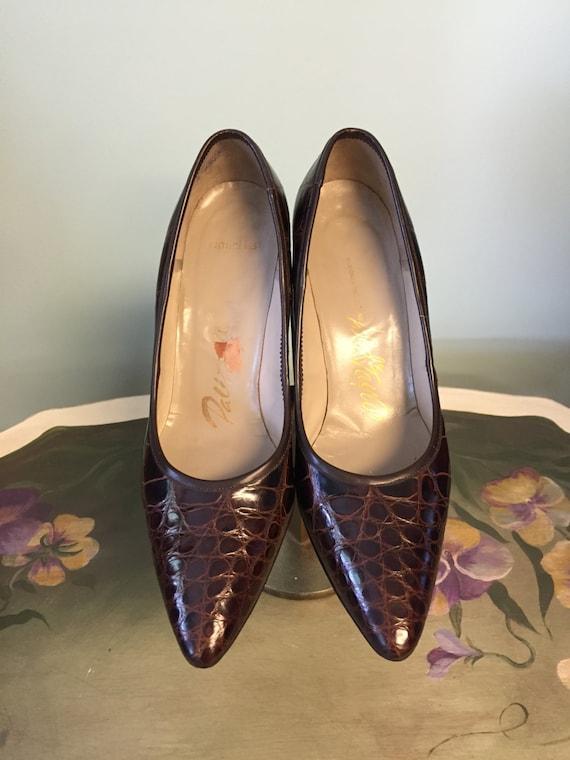 1960's Vintage Palizzio Crocodile Embossed Leather