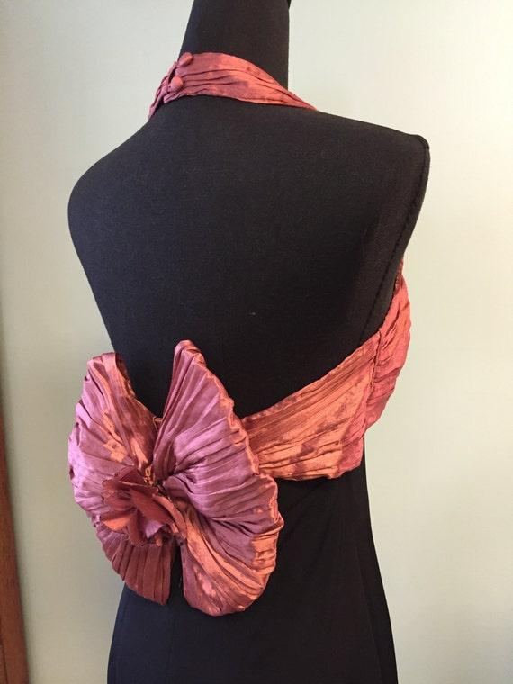 Vintage 1980's Halter Pantsuit/Designer Onesie/Eve