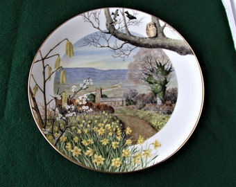 """Royal Worcester Limited Edition collectors plate: """"A Country Church in March""""by Peter Banett.1979"""