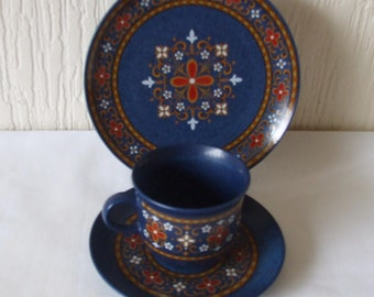 Tea Cup and Saucers and Side plate  WINTERLING Bavaria Schwarzenbach hand painted