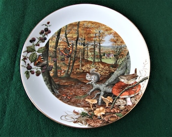 Royal Worcester Limited Edition collectors plate: The Colours of Autumn in October by Peter Banett.1979