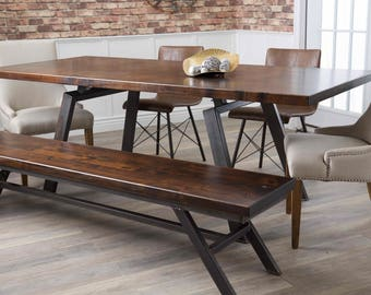 Fulton Modern Industrial Dining Table