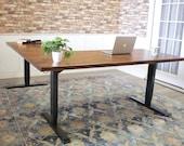 Sit to Stand Power Adjustable Corner L-Shaped Desk