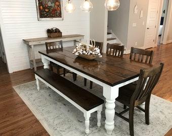 Square Rustic Farmhouse Table Customizable Etsy