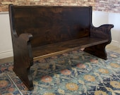 Solid Hardwood Rustic Church Pew - Handcrafted and Custom Made to Order