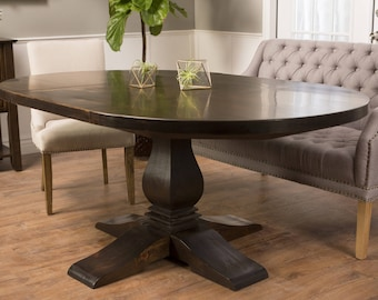 Oval Dining Table Etsy - Oval dinner table