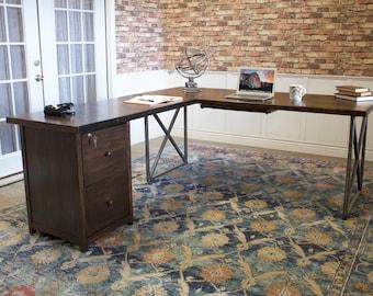 Custom corner desk   Etsy