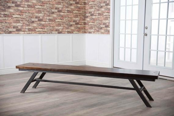 Brilliant Fulton Modern Industrial Dining Bench Ibusinesslaw Wood Chair Design Ideas Ibusinesslaworg