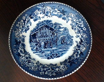 Thomas Hughes /& Sons 8-inch Rimmed Soup Bowl Avon Cottage