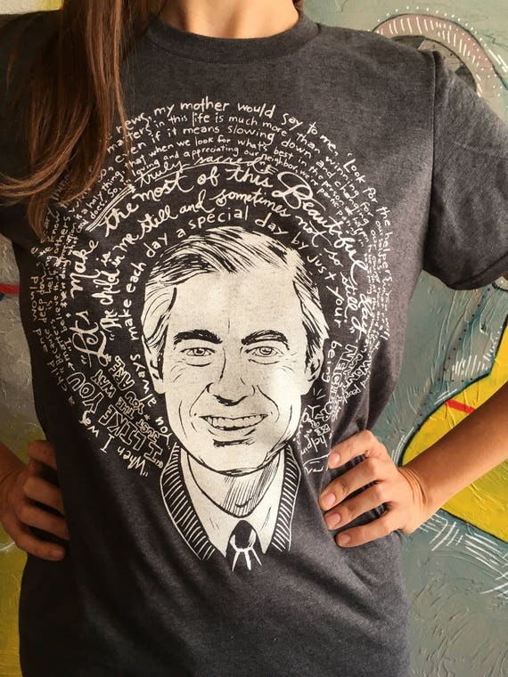 Saint Fred Rogers Mister Rogers Artist Saint T Shirt Free Etsy